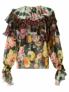 Dolce & Gabbana printed ruffled blouse - Multicolour