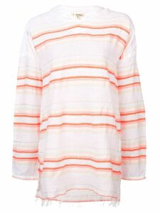 Lemlem Fiesta stripe hooded blouse - Yellow
