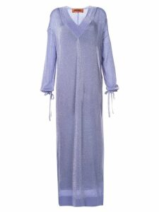 Missoni glittery kaftan dress - Purple