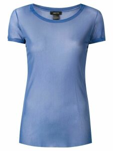 Avant Toi round-neck tulle T-shirt - Blue