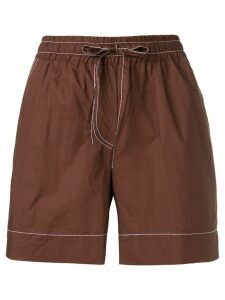 P.A.R.O.S.H. contrast stitch shorts - Brown