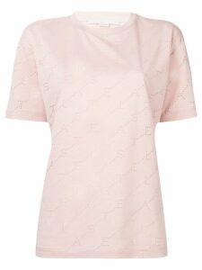 Stella McCartney perforated logo T-shirt - PINK