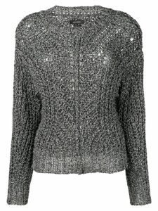 Isabel Marant metallic detail sweater - SILVER