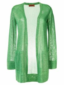 Missoni long glittery cardigan - Green