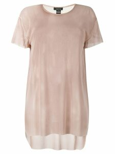Avant Toi sheer T-shirt - NEUTRALS