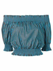 P.A.R.O.S.H. off-the-shoulder blouse - Blue