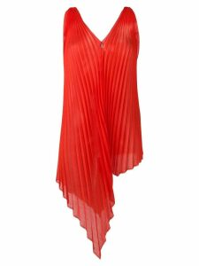Poiret asymmetric pleated top - Red