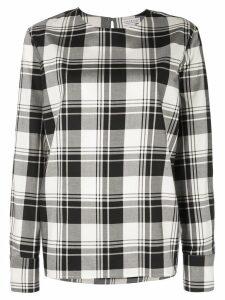 Dresshirt plaid pajama-style top - Black
