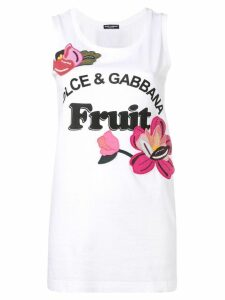 Dolce & Gabbana Fruit tank top - White
