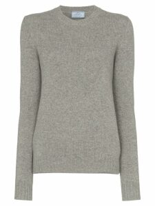 Prada cutout cashmere jumper - Grey