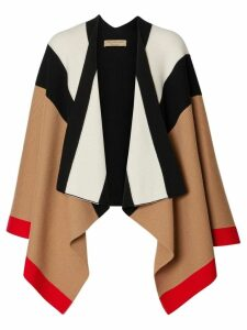 Burberry Striped Wool Cashmere Cape - Multicolour