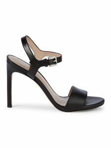 Leather Stiletto Slingback Sandals