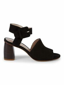 Savvy Side-Buckle Leather Sandals