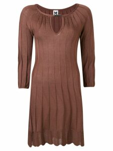 Missoni Pre-Owned 2000's knitted scalloped dress - Brown