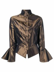 Gianfranco Ferré Pre-Owned 2000's draped blouse - Brown