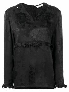 Valentino Pre-Owned 1980's rose print blouse - Black