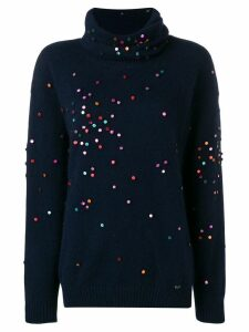 Chanel Pre-Owned 2000's appliqués jumper - Blue