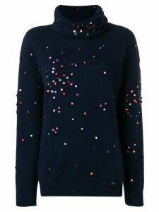 Chanel Pre-Owned 2000's appliqués jumper - Blue
