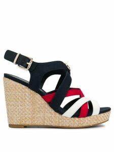 Tommy Hilfiger strappy wedge heel sandals - Blue