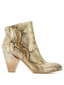 Strategia snakeskin effect ankle boots - Neutrals