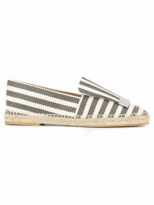 Sergio Rossi striped espadrilles - White
