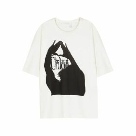 Chloé White Logo-print Jersey T-shirt