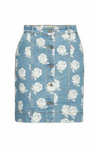 Kenzo Printed Denim Skirt