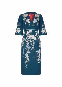 Siobhan Dress Cambridge Blue