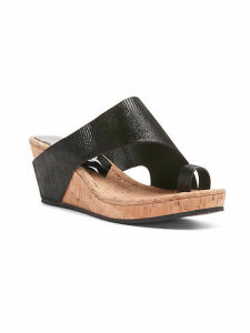 Gyer Leather Wedge Toe-Ring Sandals