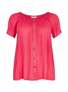 Pink Button Detail Top, Pink