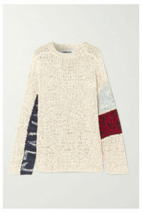 AMBUSH® - Waves Patchwork Cotton-blend Sweater - Beige