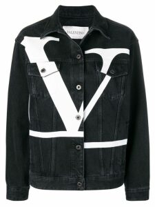 Valentino Deconstructed VLOGO denim jacket - Black