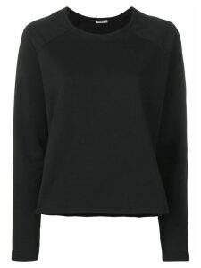 Barena asymmetric hem boxy-fit sweatshirt - Black
