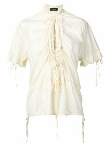 Dsquared2 ruched front blouse - NEUTRALS