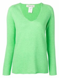 Lamberto Losani knitted v-neck jumper - Green