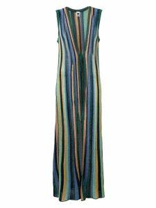 M Missoni striped long cardigan - Blue