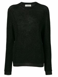 Laneus sheer knit sweater - Black