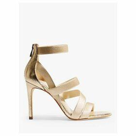 Karen Millen Glitter Metallic Strap Sandals, Gold