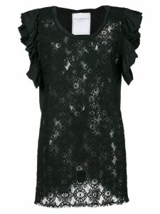 Philosophy Di Lorenzo Serafini embroidered top - Black