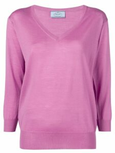 Prada V-neck jumper - Purple
