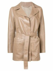 Sylvie Schimmel Mirage Love leather jacket - Neutrals