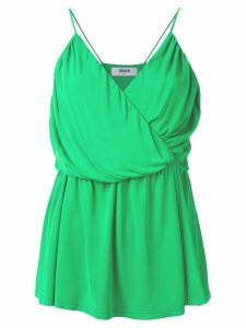 MSGM draped wrap top - Green