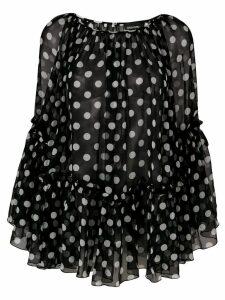 Ermanno Ermanno polka dot print blouse - Black