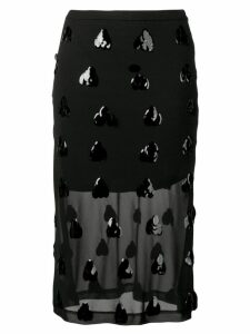 McQ Alexander McQueen sequin embellished sheer skirt - Black