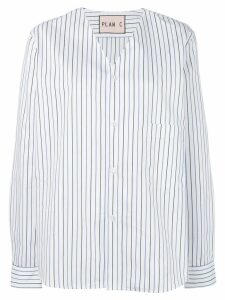 Plan C pinstripe top - White