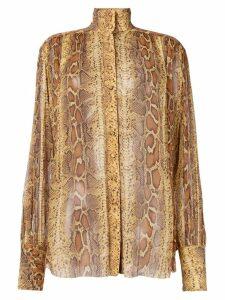 Zimmermann snakeskin print shirt - NEUTRALS
