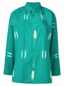 Suzusan bleached effect shirt - Green