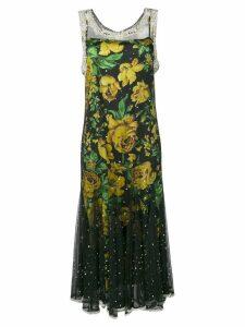 Richard Quinn layered gem detail dress - Black