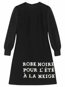 Gucci Wool-silk dress with print - Black