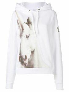Burberry runway unicorn print hoodie - White